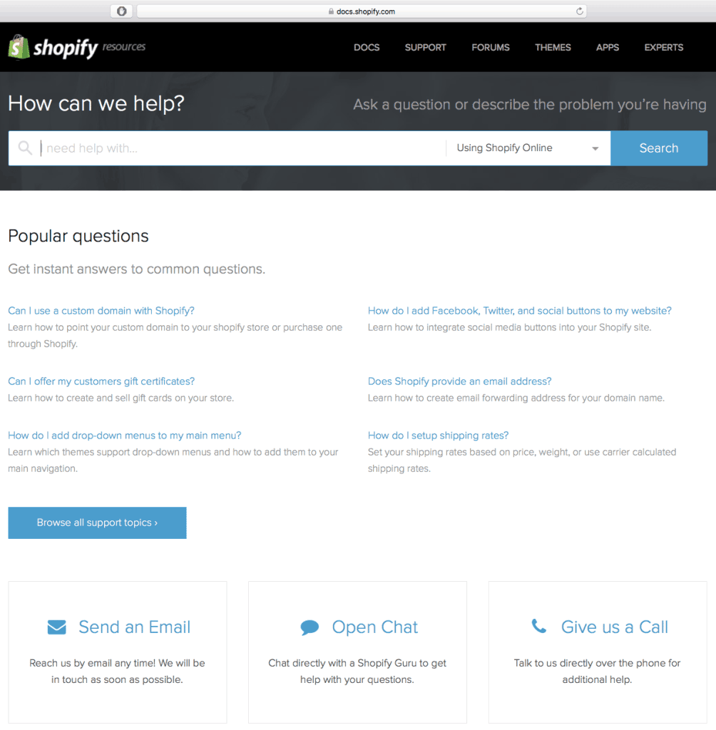 Shopify Customer Support